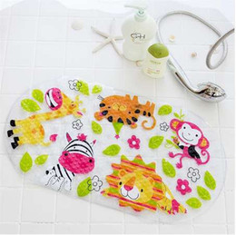 $enCountryForm.capitalKeyWord NZ - Non-Slip Bath Mat Kids Mat Shower Mat With Suction Cup Bright Cartoon Printed For Bathtub Children Colorful Zoo For Baby Pad