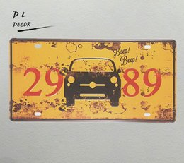 $enCountryForm.capitalKeyWord UK - DL-CAR 2989 License plate Vintage Tin sign shop coffee outdoor wall plaques posters and prints