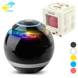 Wholesale Bluetooth Speaker Round Ball Subwoofer Mini Colorful Music Amplifier Indoors Outdoors Loudspeaker Classic Type For Smart Phone