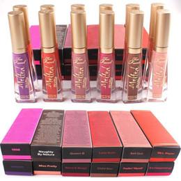 Melted Matte Lipsticks NZ - Free Shipping! Too Melted Matte Liquid Lipstick 12 Colors Face Lip Gloss LIQUIFIED Matte Lipstick Faceed Makeup Melted Lip Gloss Long Wear