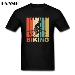 mountain tees Canada - Hip Hop Tees Shirt Man White Short Sleeve Custom Mountain Biking Family Clothes Tops Men T-shirts