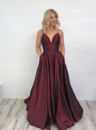 red evening dresses for women Australia - Hot Selling Spaghetti Straps Long Dark Burgundy Prom Dresses Evening Dresses for Women Under 100 In Stock