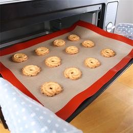 macaron tools 2019 - Kitchen Dining Bar Tool Non-Stick Silicone Rolling Dough Mat Baking Mat Pad Baking Sheet Glass Fiber For Cake Cookie Mac