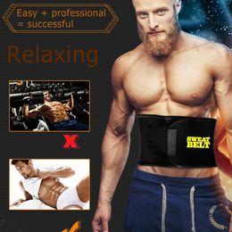 02dbddf310 Fat Burning Mens Elastic Waist Belt 2018 New New Abdomen Girdle Belly Body  Sculpting Shaper Top Quality Male Tummy Slimming Belt