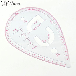 $enCountryForm.capitalKeyWord Canada - Plastic Sleeve Button Cutting Ruler Clothing Sample Pockets Collar Drawing Tailor Ruler Curve Yardstick Sewing Tools Accessory