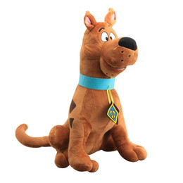 scooby toy 2019 - New Anime Cute Cartoon Toys Soft Scooby Doo Dog Dolls Plush Toy For kids Gifts 33cm cheap scooby toy
