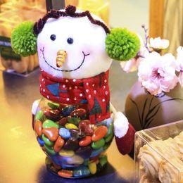 Clear Balls Australia - 2016 Christmas Cartoon Candy Jar Noel Snowman Reindeer Holiday Figurines for Kid Navidad Decoracion para Casa Xmas Clear Balls