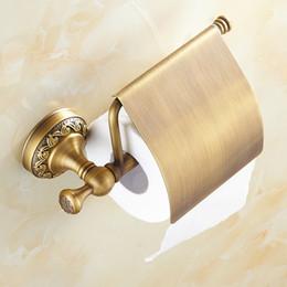 $enCountryForm.capitalKeyWord Australia - Antique Brass Paper Towel Rack European Style Vintage Paper Holder Toilet Paper Tissue Box Bathroom Accessories Roller Holders