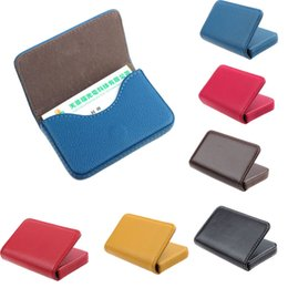 Business Card Holder Magnetic NZ - Brand New Exquisite Magnetic Attractive Card Case Unisex Leather Business Card Case Box Holder for women men carteira masculina