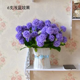 Wholesale Simulation ball chrysanthemum chrysanthemum flower dance chrysanthemum decoration living room table display factory direct