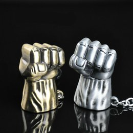 Superhero Keychains Canada - Hulk Fist Alloy Keychain - Superhero Hulk Fist Metal Key Chain Ring Metal Pendant Cars Keyrings Gifts Keychains Jewelry For Men