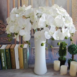 blue orchid bouquet Australia - Artificial Butterfly Orchid Silk Flower Bouquet Phalaenopsis Wedding Home Decor Fashion DIY Living Room Art Decoration