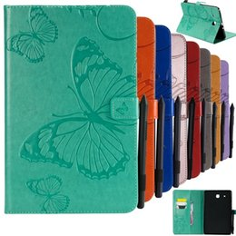 """Tablet Stand Kids Australia - for Samsung Galaxy Tab E 9.6"""" Cover 3D Emboss Butterfly PU Leather Flip wallet Shell for Samsung Tab T560 T561 Tablet Case Stand"""