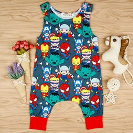 $enCountryForm.capitalKeyWord Canada - Ins Infant Baby Boys Cartoon Rompers Kids Sleeveless Babies Onesies Overalls Toddlers Climb Clothes Child Baby Rompers 4074