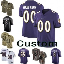 a67d933f2 Men youth women Vapor Untouchable Ravens 8 Lamar Jackson 9 Justin Tucker 29  earl thomas III Custom Camo Salute to Service football jersey 08