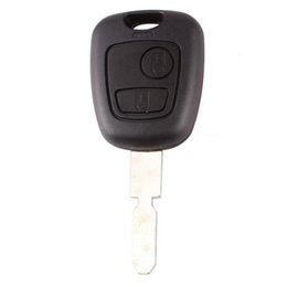 $enCountryForm.capitalKeyWord Canada - 10Pcs lot For Peugeot 406 408 2Button Blank Transponder Remote Key Shell S50