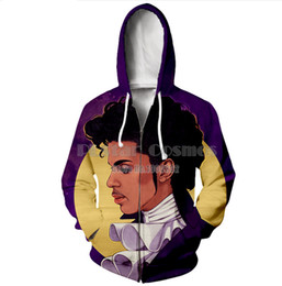 $enCountryForm.capitalKeyWord Canada - New Fashion 3D Printed prince Rogers Nelson Sport Sweatshirt Zipper Pocket Hoodies GH06