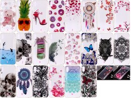 Pineapple Gel NZ - Fashion Flower Soft TPU IMD Case For Iphone XR XS MAX X Clear Pineapple Lace Butterfly Dolphin Skull Bear Gel Feather Donut Skin Covers