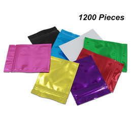 seal packs UK - 7.5x10cm 1200 Pieces Colorful Aluminum Foil Self Sealing Food Storage Packaging Pouch Foil Mylar Food Valve Zipper Resealable Packing Bags