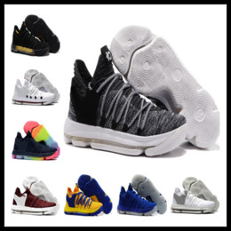 13b5d163c44de1 Sales KD 10 Oreo Black White men women kids shoes Store Kevin Durant  Basketball shoes free shipping Wholesale prices 897815-001