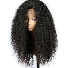 $enCountryForm.capitalKeyWord UK - Curly Lace Front Human Hair Wigs For Black Women 8-26 Inches Brazilian Remy Hair Lace Frontal Wigs With Baby Hair