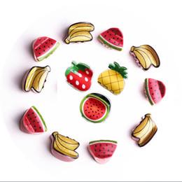 Menina Dos Desenhos Animados Fruta Grampo de Cabelo Crianças Bonito Plástico Banana Melancia Abacaxi Morango Hairclip Cinco Estilos para Frete Grátis