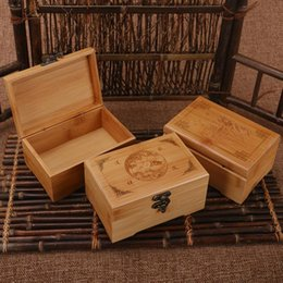 $enCountryForm.capitalKeyWord NZ - 1PCS Handmade Vintage Storage Box Bamboo Wooden Jewelry Box Stud Earring Earrings Ring Carved Designs Eco-friendly High-grade New