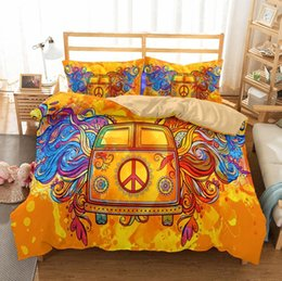 Pillowcase Sizes Canada - New 3D Hippie Style Bedding Set 2PC 3PC Duvet Cover Set Of Quilt Cover & Pillowcase Twin Full Queen King Size