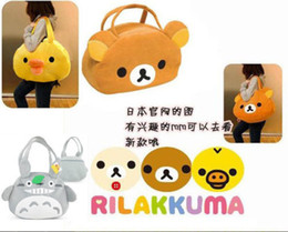$enCountryForm.capitalKeyWord NZ - candice guo! super cute plush toy shoulder bag Totoro relax kuma Rilakkuma bear Chicken handbag birthday Christmas gift 1pc