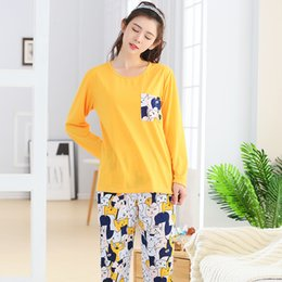 9dd2ec3076 Discount female sleeping clothes - Women s Clothing Autumn Long Sleeved Pajamas  Female nightgown women sleep and