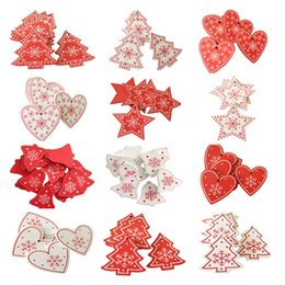 Home & Garden Apparel Sewing & Fabric Objective 50pcs Christmas Holiday Wooden Collection Snowflakes Buttons Snowflakes Embellishments 18mm Creative Decoration
