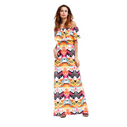 e3f28cc0061 2018 Summer Dress Beach Hippies Styles Fashion Clothing Womens Beachwear  Dress Long Summer Slash Neck Ruffle Plus Size Party Dress Bohemian