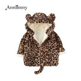 Discount kids fur shorts - kids boy coat 2018 winter girl clothes fashion Leopard print plus velvet warm boys jacket lovely faux fur coat for 0-3 a