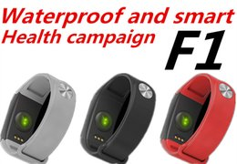 F1 Bluetooth Smart Watch NZ - bluetooth F1 smart watch Fitness Tracker Wristband Heart Rate Monitor Smart Band Smartband Blood Pressure With Pedometer Bracelet