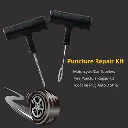 Tubeless Reifenpannen-Reparatur-Installationssatz-Werkzeug-Reifen-Stecker-Auto 3 Streifen-Motorrad / Auto-Gummizement-tragbares Notwerkzeug-Zusätze