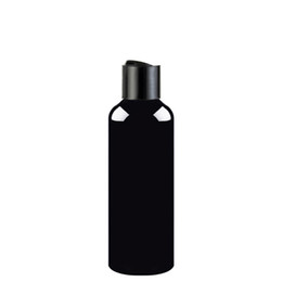 Chinese  50pcs 100ml 150ml 200ml 250ml black empty lotion cream cosmetic bottle with disc top,250cc plastic bottles containers shampoo PET bottles manufacturers