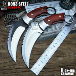 $enCountryForm.capitalKeyWord Australia - LCM66 tactical karambit High-end DC53 steel scorpion claw knife outdoor camping jungle survival battle Fixed blade self defense Cold steel