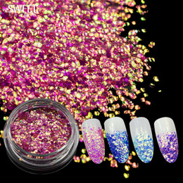 Beauty & Health Holographic Unicorn Shiny Nail Sequins 3d Sparkly Acrylic Gel Diy Chameleon Paillette Nail Glitter Diy Manicure Decorations Convenient To Cook Nails Art & Tools