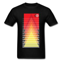 mountain tees Canada - Youth T-shirts Camisa Clothing Men T Shirts Mountains High Tops & Tees New Coming Group Geometric Hip Hop Tshirt 100% Cotton