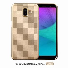 Woven carbon fiber online shopping - Carbon Fiber Vertical Soft TPU Case For Samsung Galaxy J6 J4 Plus A7 Huawei Y5 Bling Fashion Woven Knit Mobile Skin Cover