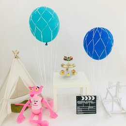 Wholesale 36 quot Hot Air Balloon Net use with inch Round Balloons Great for Centerpiece and Photo Props Weddings Birthdays haif
