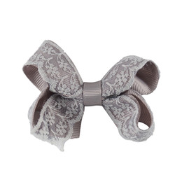 $enCountryForm.capitalKeyWord UK - 3'' Lovely Lace Hair Bows With Clips Handmade Solid Grosgrain Mini Hairbow For Little Kids Girls Hair Accessories