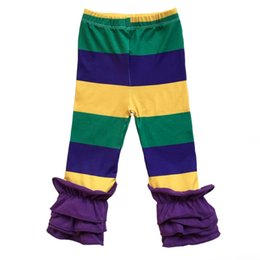 4095f8d4c677f Girls triple ruffle pants online shopping - Spring color easter triple  ruffle leggings Purple Green and