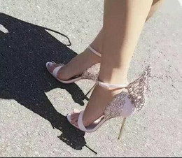 $enCountryForm.capitalKeyWord Canada - Hot Sale Brand Sophia Webster Cleo Sandals Genuine Leather Pumps Butterfly Ultra High Heel Sandals For Women Sexy Stiletto Shoes women shoe