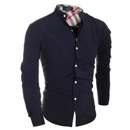 $enCountryForm.capitalKeyWord UK - Men Shirt Brand Camisa Masculina 2018 Male High Quality Long Sleeve Shirts Casual Hit Color Slim Fit Black Man Dress Shirts