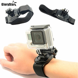 xiaomi gps NZ - GloryStar 360 Degree Rotation Hand Wrist Strap Mount for Gopro Hero 5 & Xiaomi Yi Sjcam SJ4000 SJ5000 Action Camera GP-920