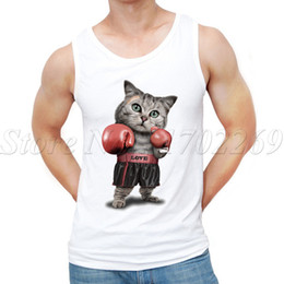 57b088a7040c5 Newest Summer Fashion Puglism Cat Design Men Tank Tops Strong Cat Printed  Hipster Vest Mens Tank Tops Gym Clothes Bodybuilding