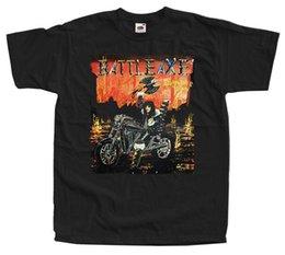 Ingrosso BATTLEAXE - Burn This Town T SHIRT nero tutte le taglie S - 3XL Stampa manica corta uomo Top Novità T Shirt uomo marchio di abbigliamento
