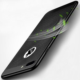 Mesh Iphone Case Black NZ - For Iphone Xs Max XR Case With Mesh Hole Hard PC Back Case For Iphone X 8 Plus 7 6 6S S8 S9 Heat MESH Hole Coverage Apple mobile phone case