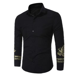 Male Clothing Styles Canada - Noble Style Sleeve Men Shirt Business Man Slim Red Shirts Dinner Party Clothing Elegant Male Blusa Office Wear Turn-down Tops